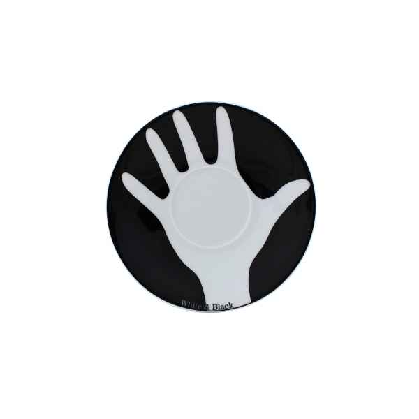 Table Selection   Opposites white & black   Untertasse 14,5cm