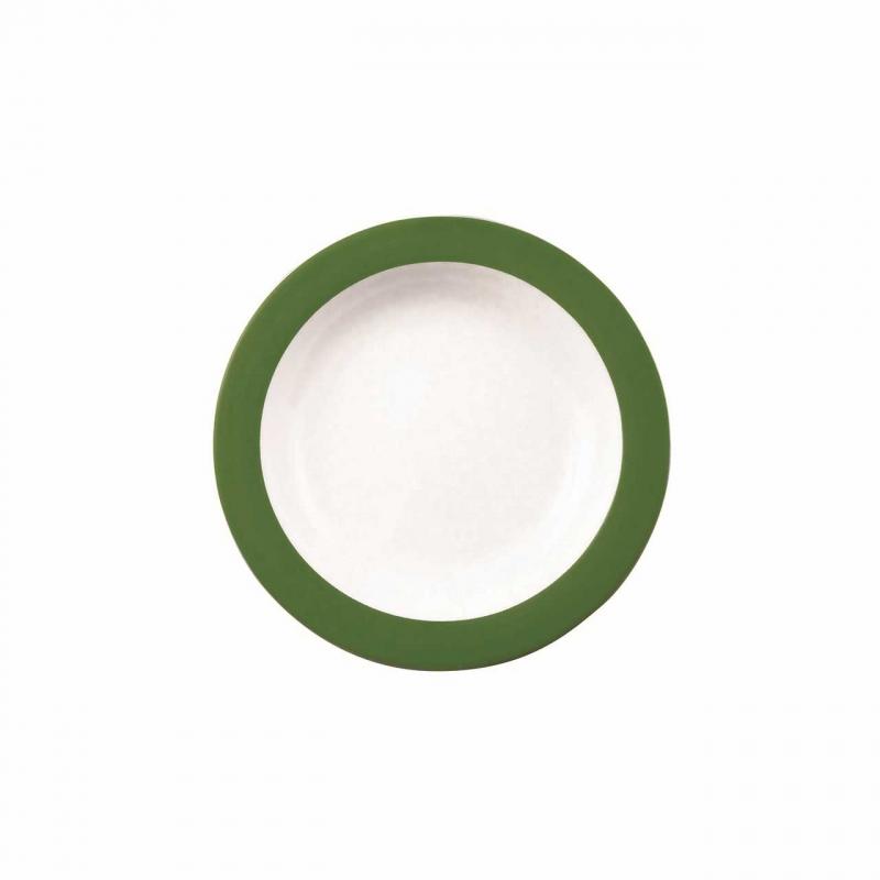 Color mit System | Dunkelgrün | Teller tief 21,5cm