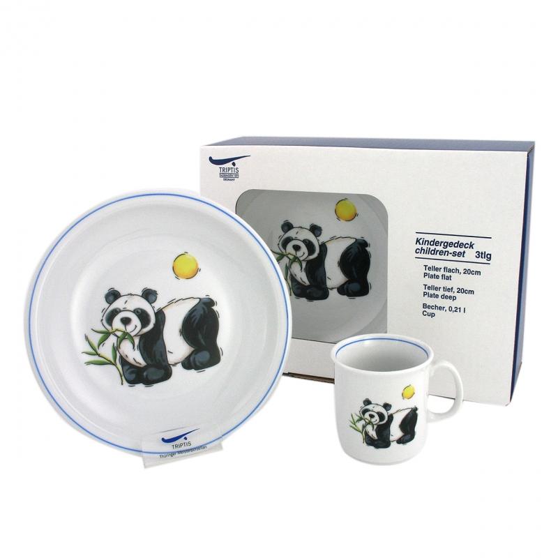 Kindergedecke | Panda | Set 3tlg.