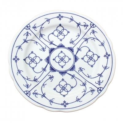 Tallin | Indischblau | Teller flach festoniert 26cm