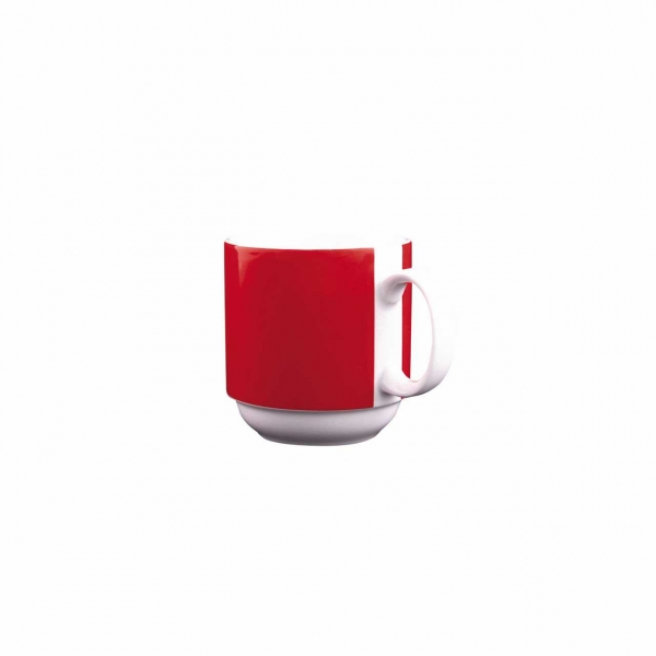 Color mit System | Rot | Becher mit Henkel 0,30l