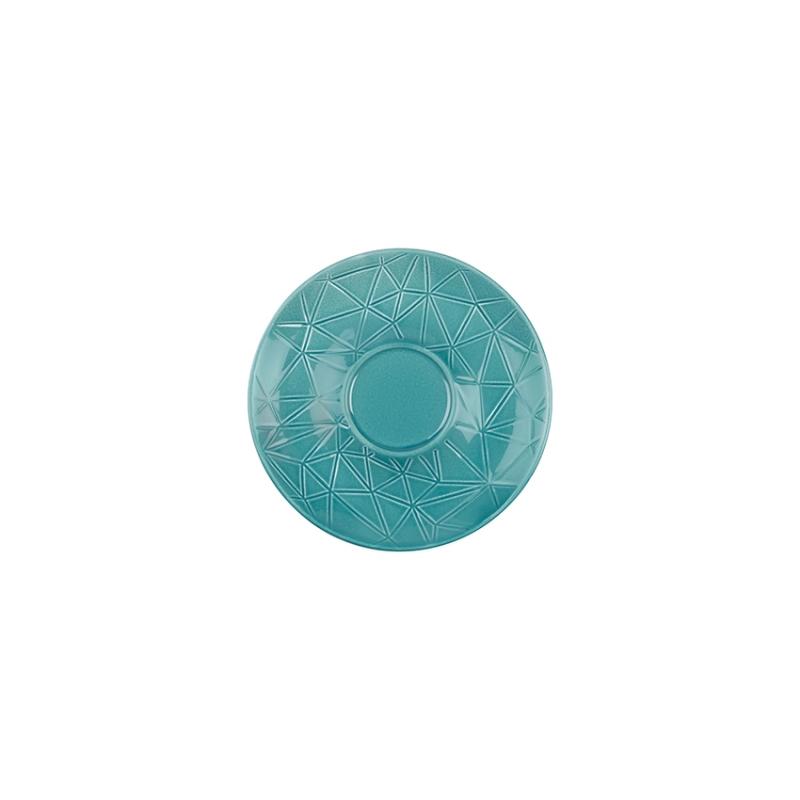 Kaleido   caribic teal   Untertasse 16 cm