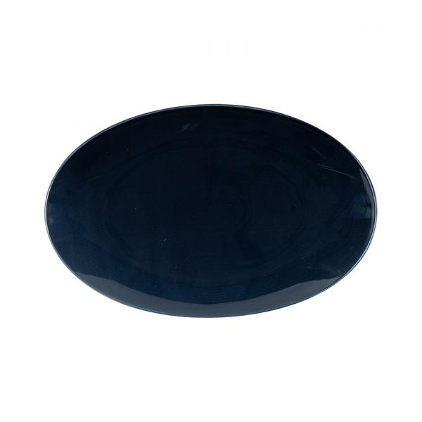 Kaleido   midnight   Platte oval coup 32 cm
