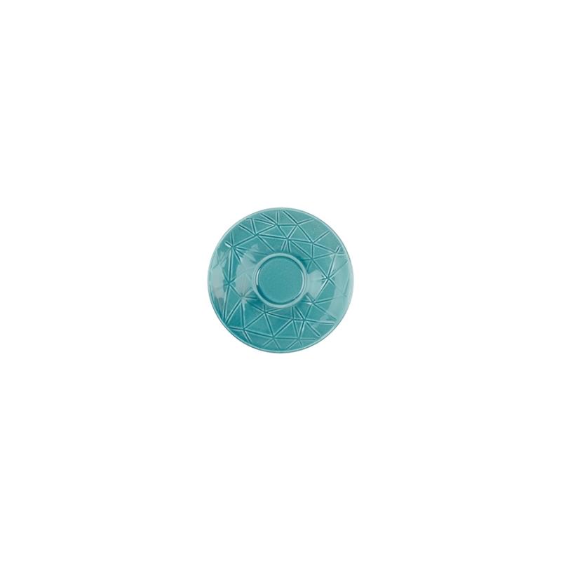 Kaleido | caribic teal | Untertasse 11 cm