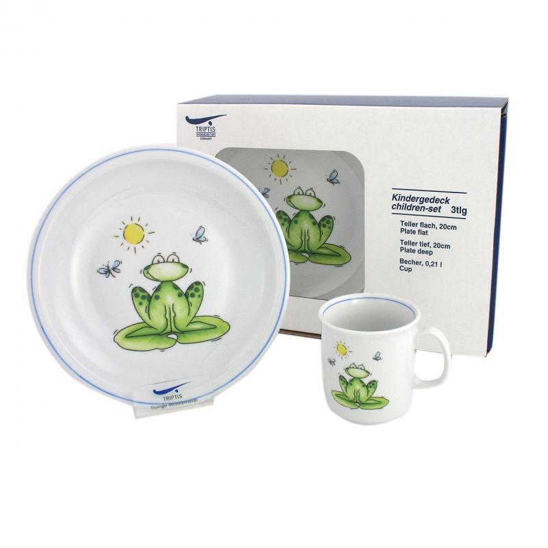 Kindergedecke | Frosch | Set 3tlg.