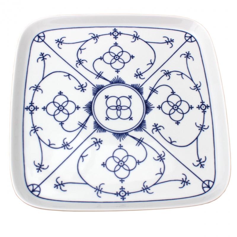 Tallin | Indischblau | Tablett | 25cm x 25cm