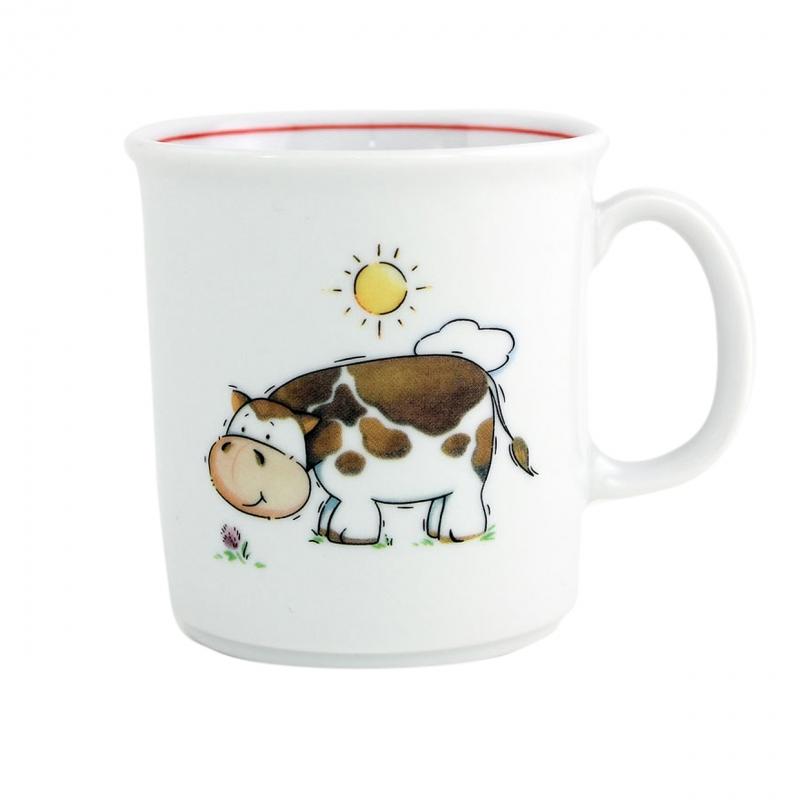 Kindergedecke | Kuh | Becher mit Henkel 0,21l