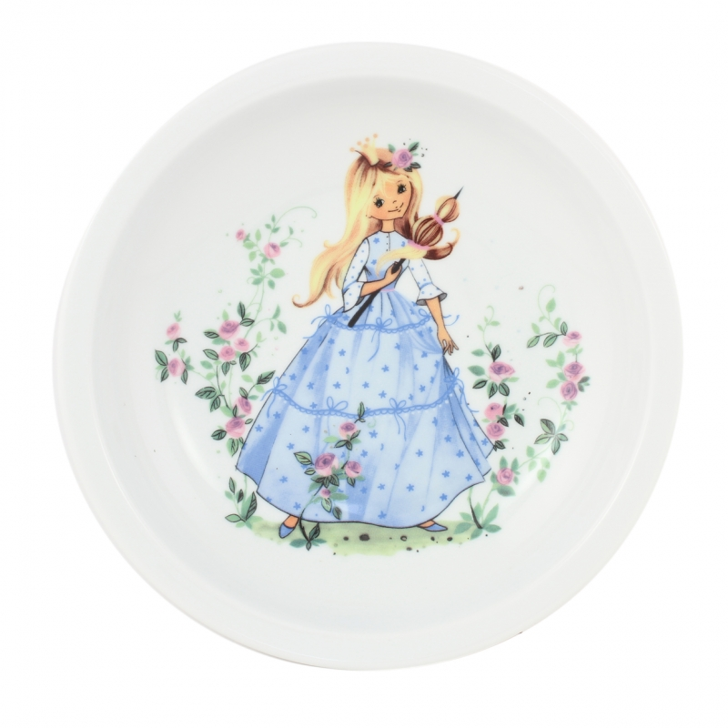 "children place setting |fairy tale print ""Sleeping Beauty"" 