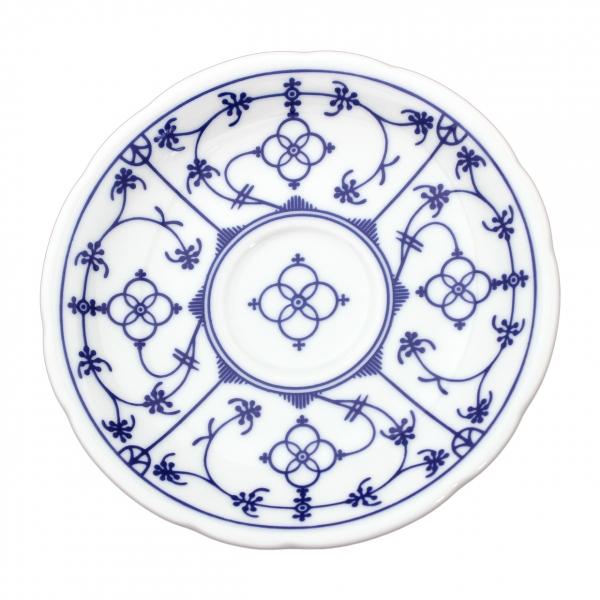 Tallin | Indischblau | Untertasse festoniert 15cm