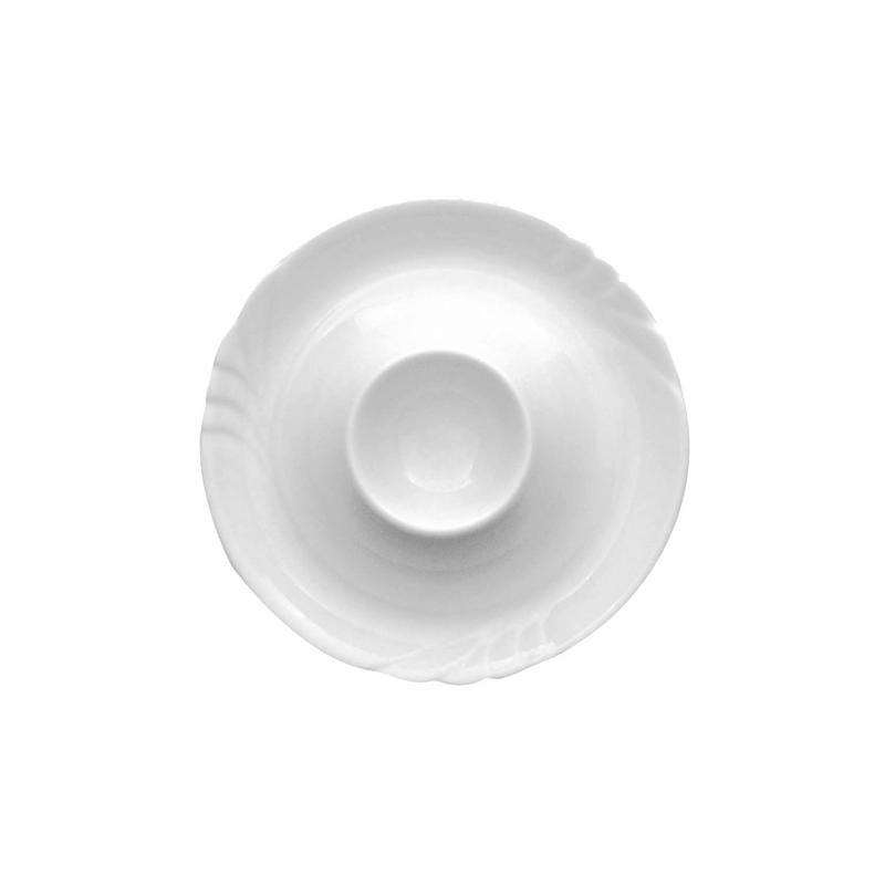 Ambiente | Weiß | Eierbecher mit Ablage 13cm