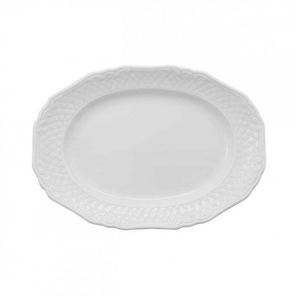 La Reine | Weiß | Platte oval 28cm