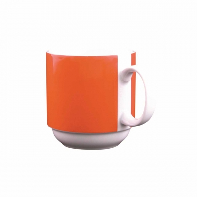 Color mit System   Orange   Becher mit Henkel 0,30l