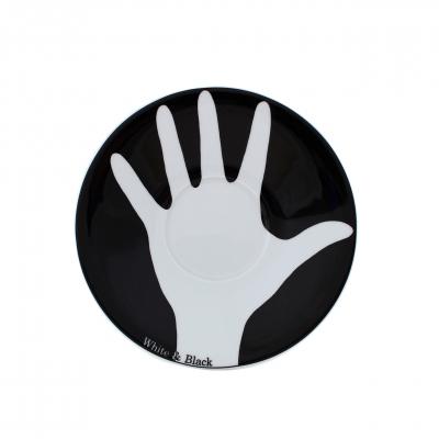 Table Selection | Opposites white & black | Untertasse 18cm