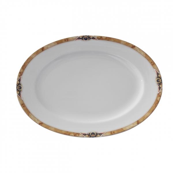 Barkarole | Golden Glimpse | Platte oval 23cm